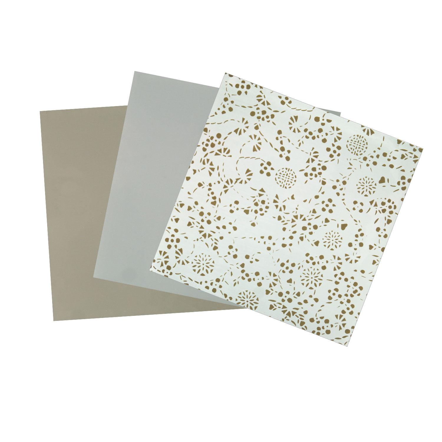 Terrific Trio Painted Taupe Opalescent Glass Pack