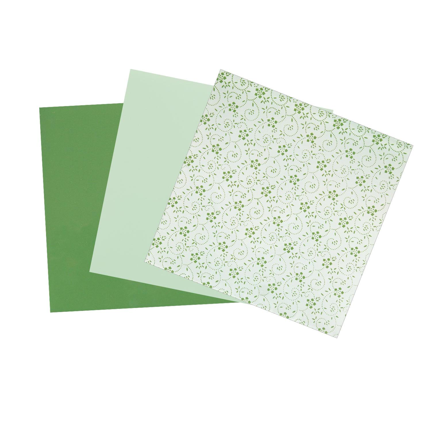 Terrific Trio Painted Green Opalescent Glass Pack