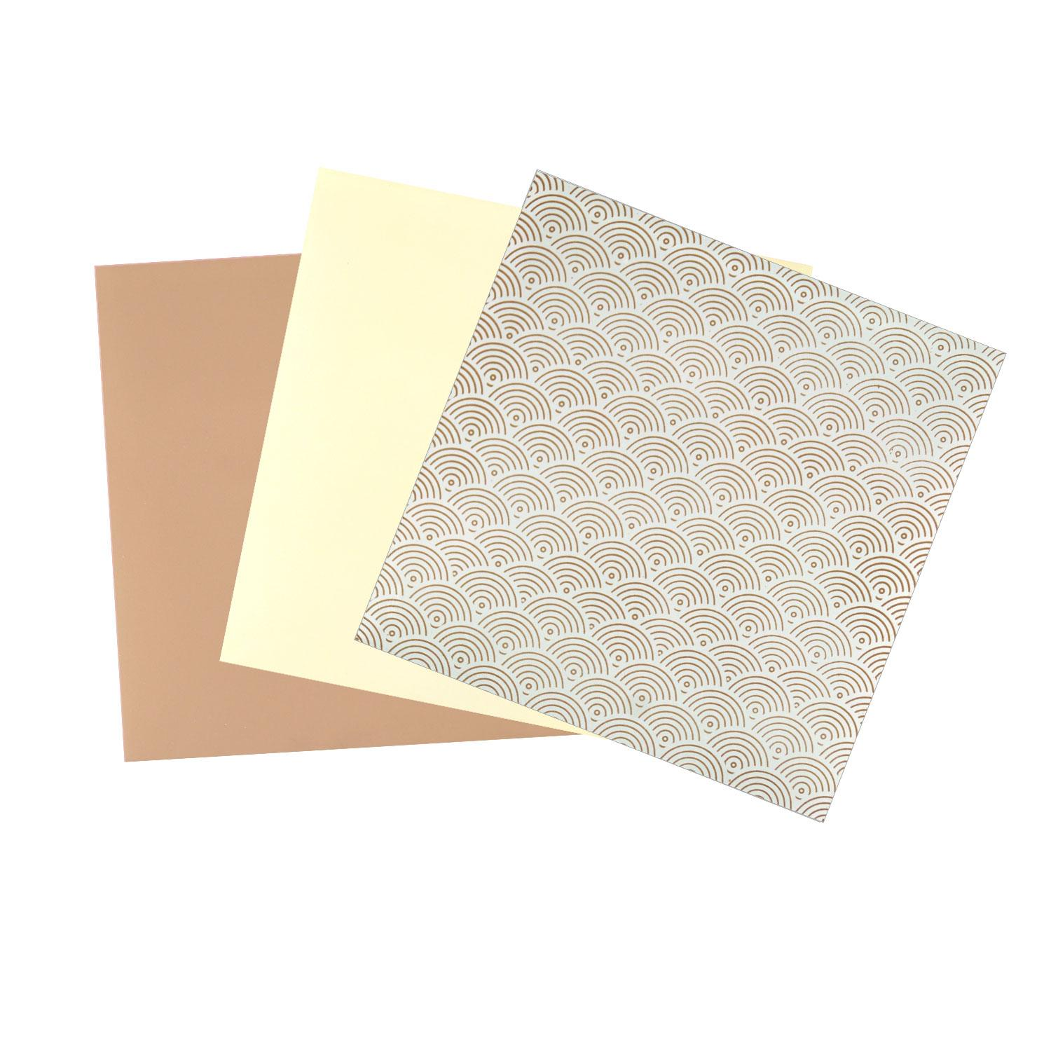 Terrific Trio Painted Light Brown Opalescent Glass Pack