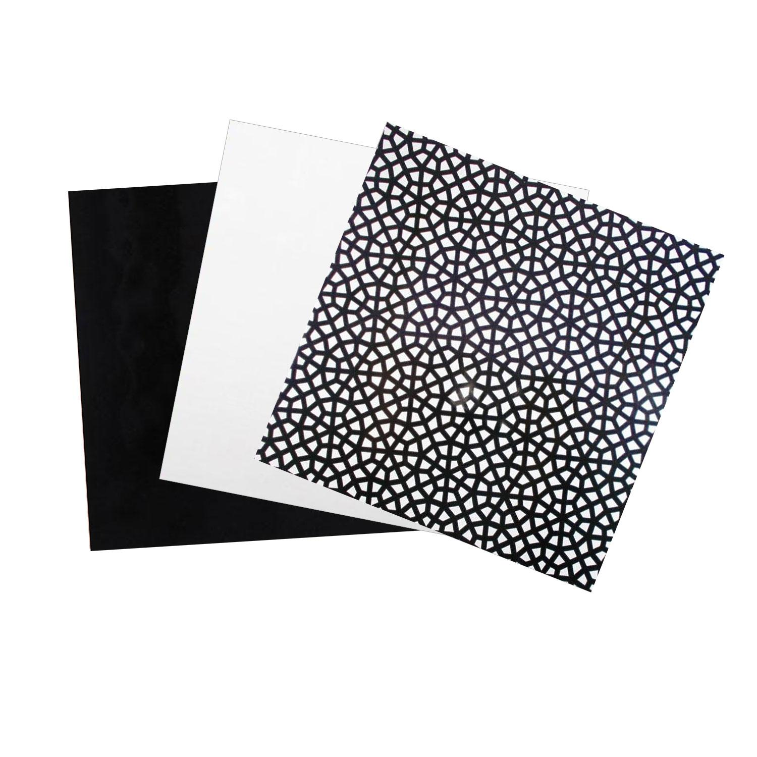 Terrific Trio Painted Black and White Opalescent Glass Pack