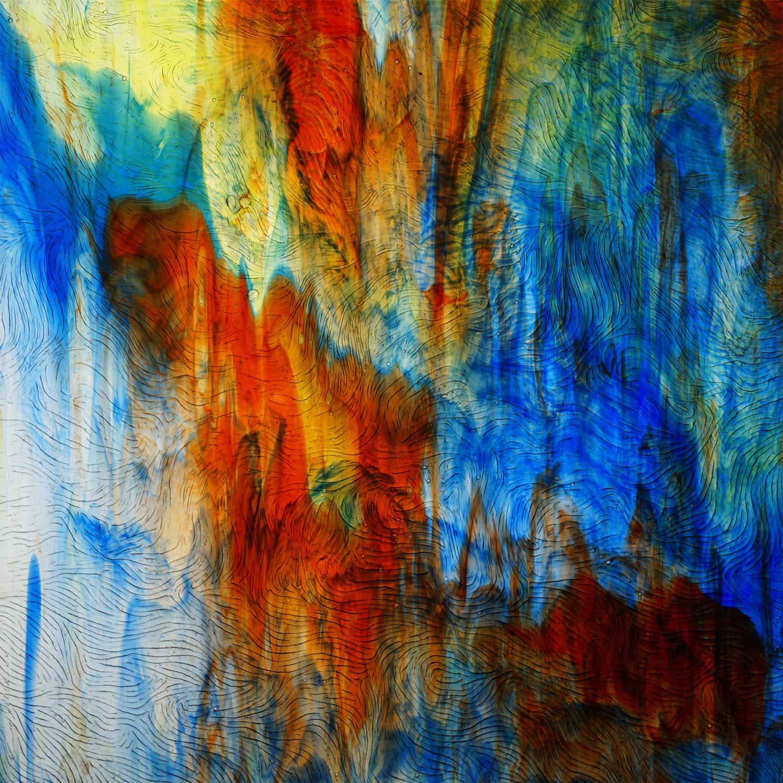 Kokomo Ruby, Lime & Blue Transparent Vertigo