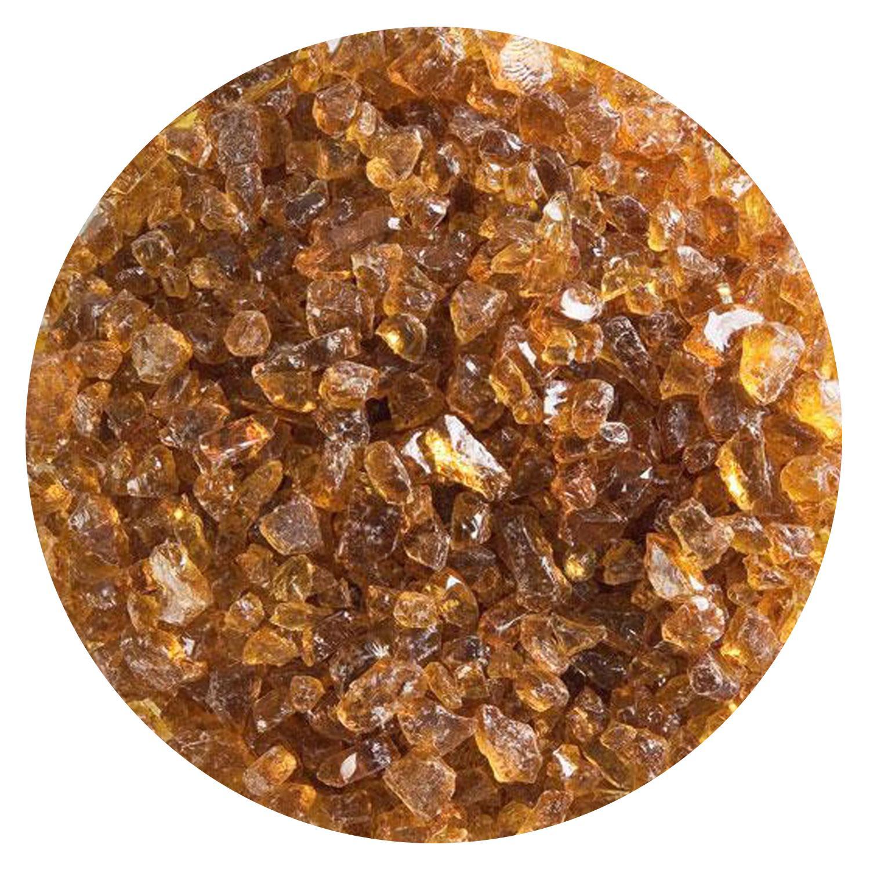 5 lb Medium Amber Transparent Coarse Frit - 90 COE