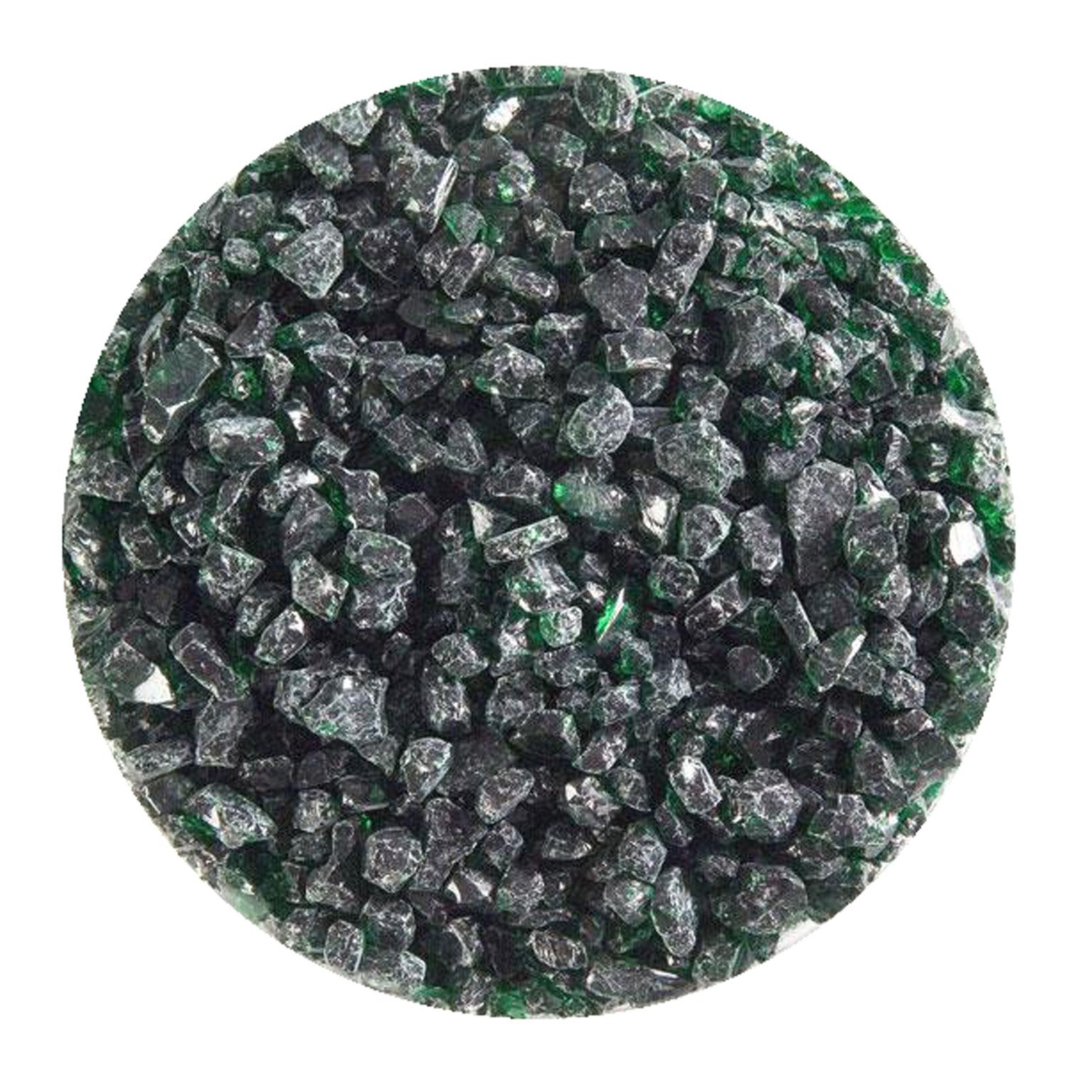 5 lb Kelly Green Transparent Coarse Frit - 90 COE