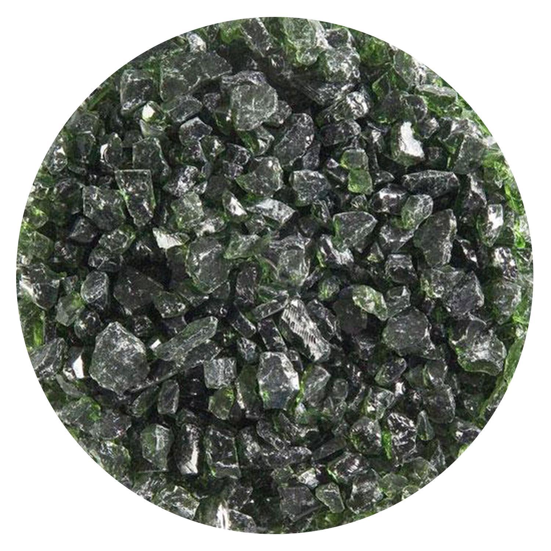 5 lb Olive Green Transparent Coarse Frit - 90 COE