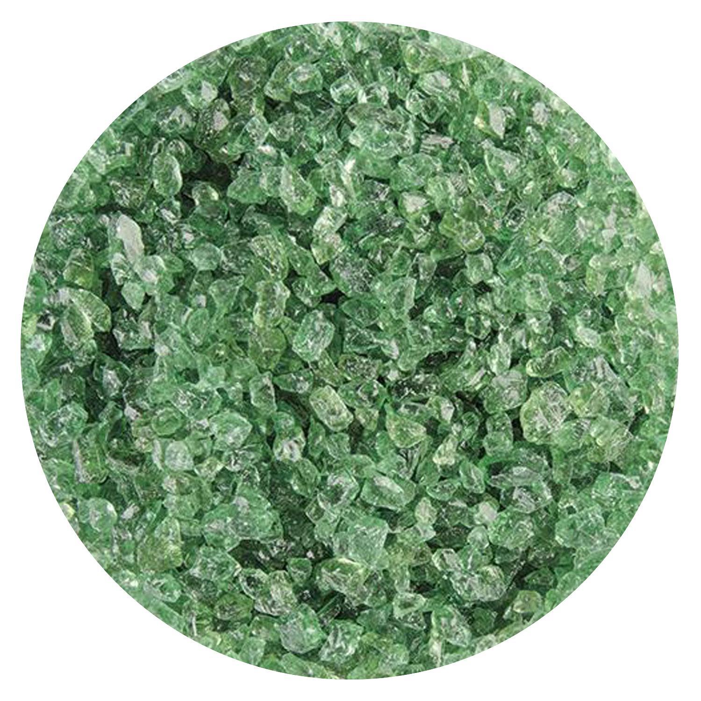 5 Lb Light Mineral Green Transparent Coarse Frit - 90 COE