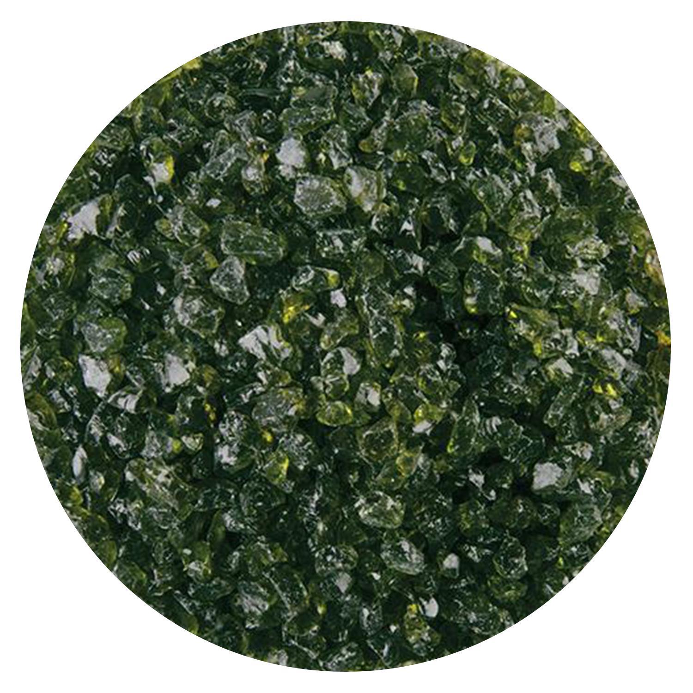 5 lb Lily Pad Green Transparent Coarse Frit - 90 COE