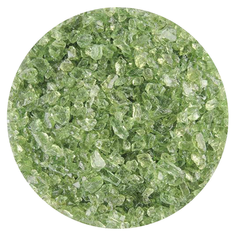 5 lb Leaf Green Transparent Coarse Frit - 90 COE
