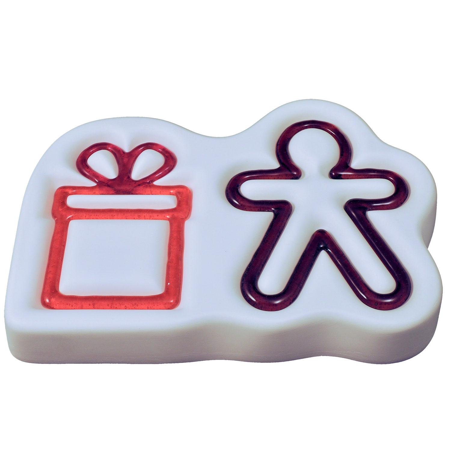 Gift and Gingerbread Man Casting Mold