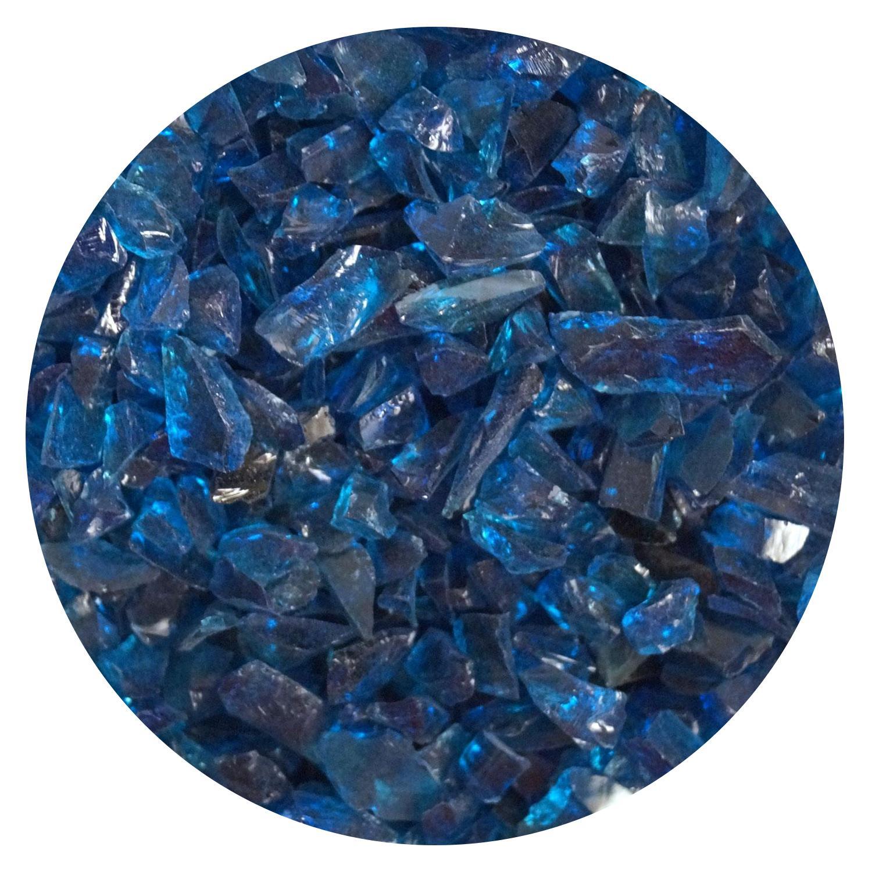 8.5 oz Deep Aqua Transparent Coarse Frit - 96 COE