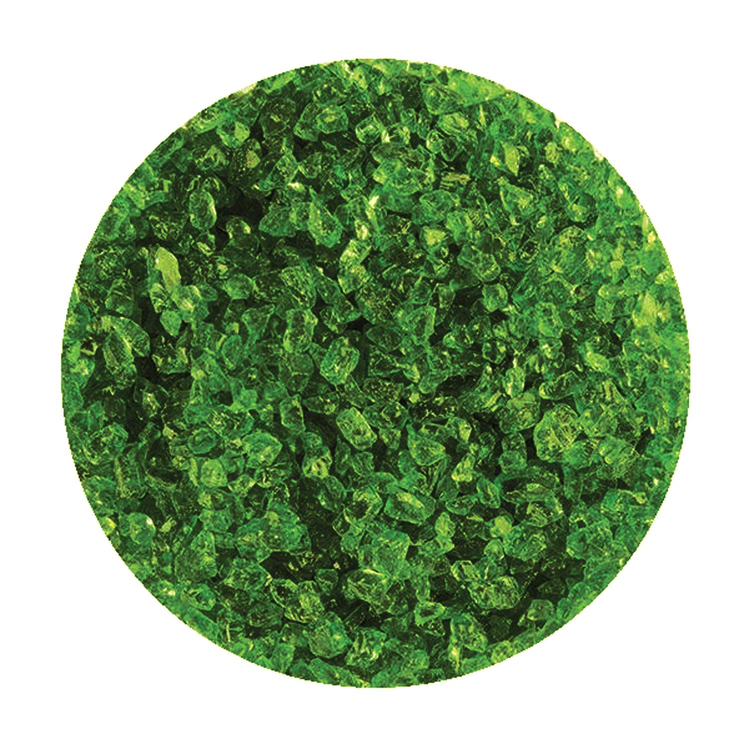 8.5 oz Moss Green Transparent Coarse Frit - 96 COE