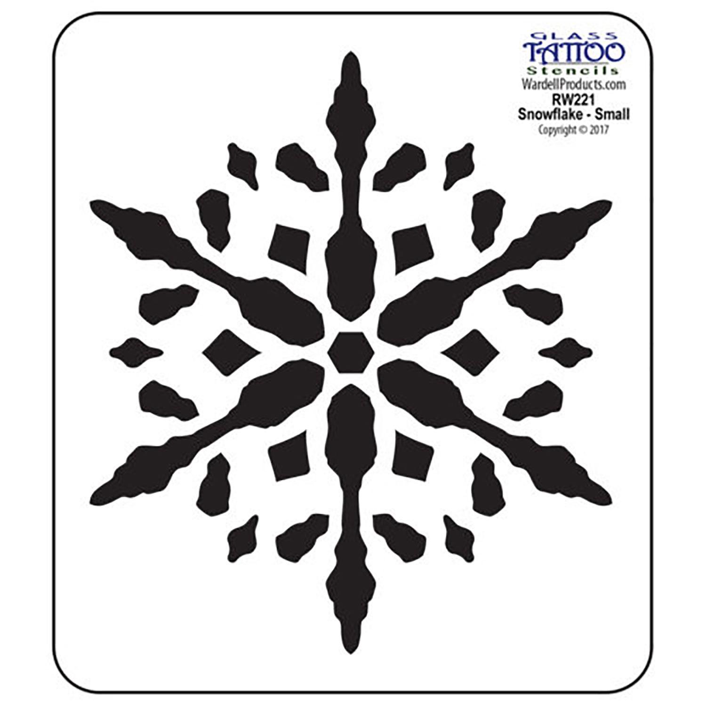 Small Snowflake Acrylic Stencil