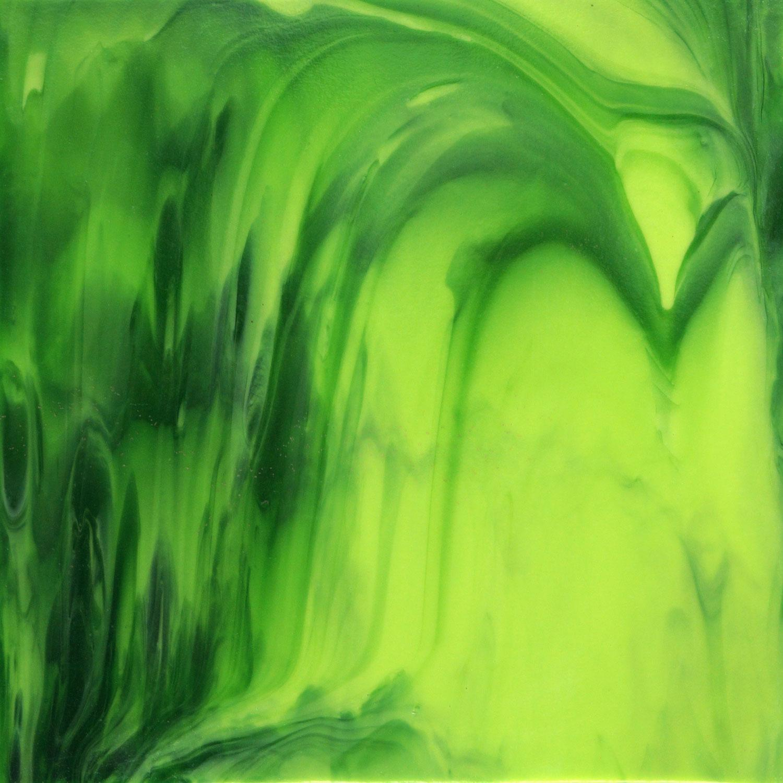 18 x 24 Y-96 Spring Greens Streaky - 96 COE