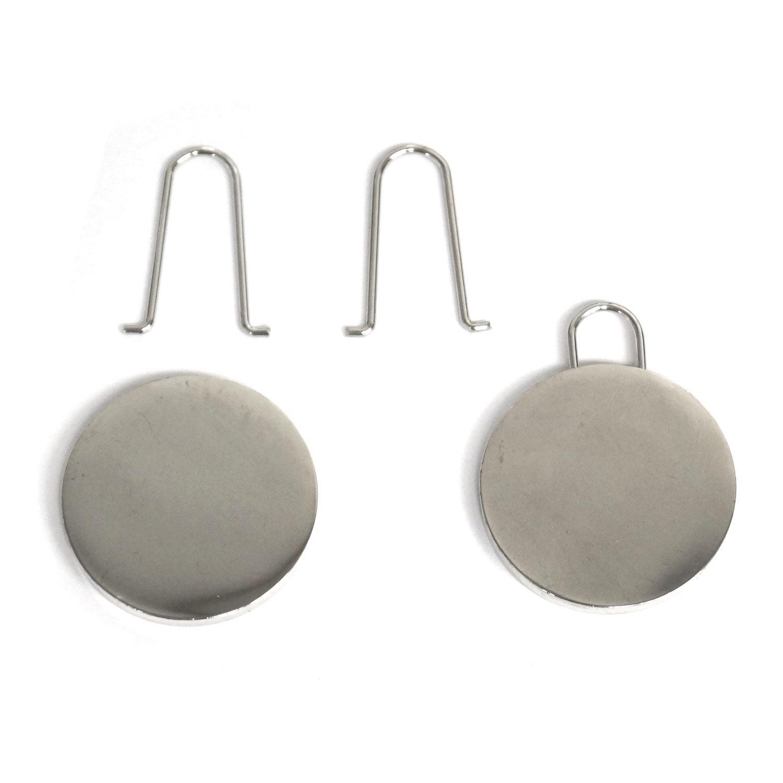 Round Flat Silver Smart Pulls