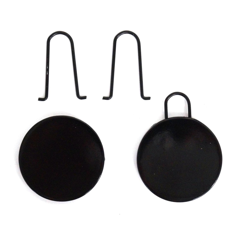 Round Flat Black Smart Pulls