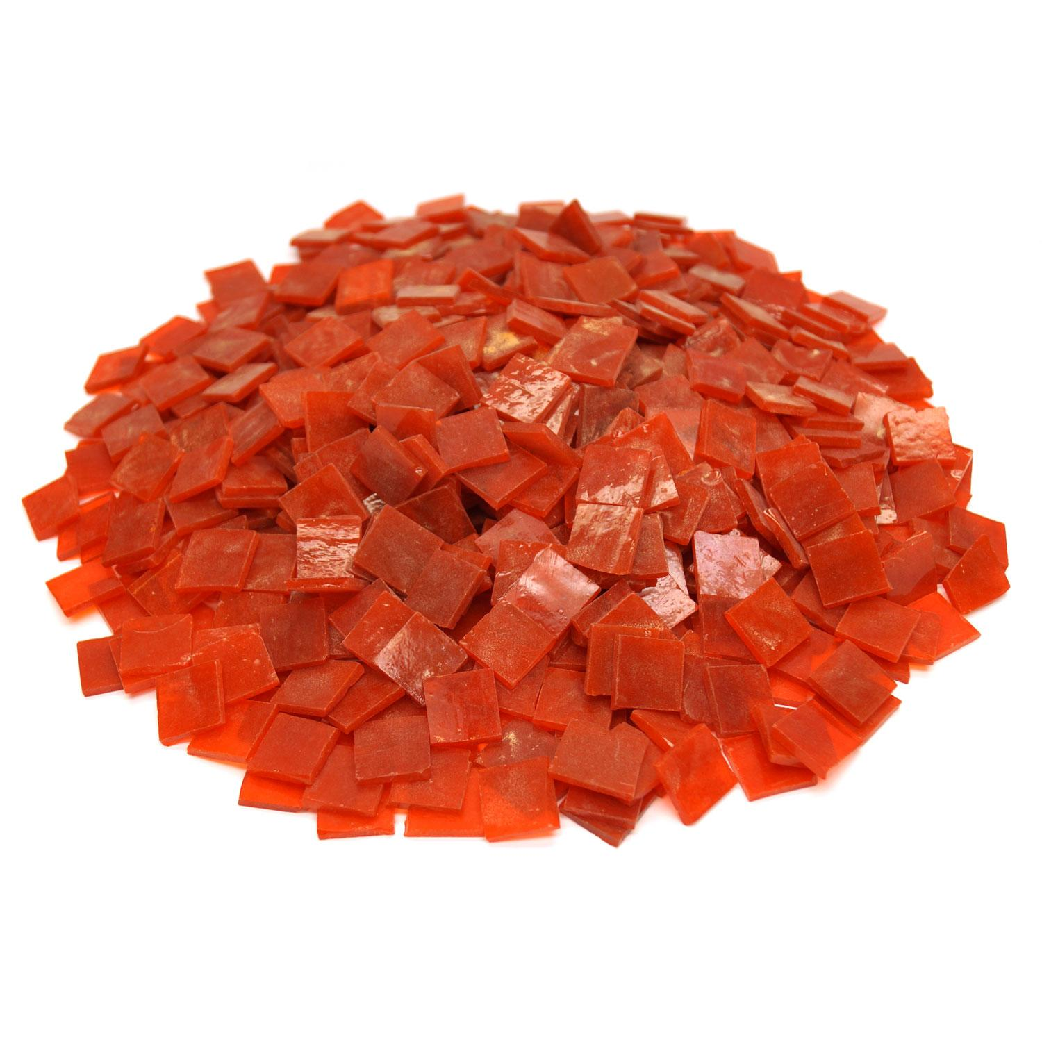 3/4 Orange Opaque Stained Glass Chips - 700 Pieces