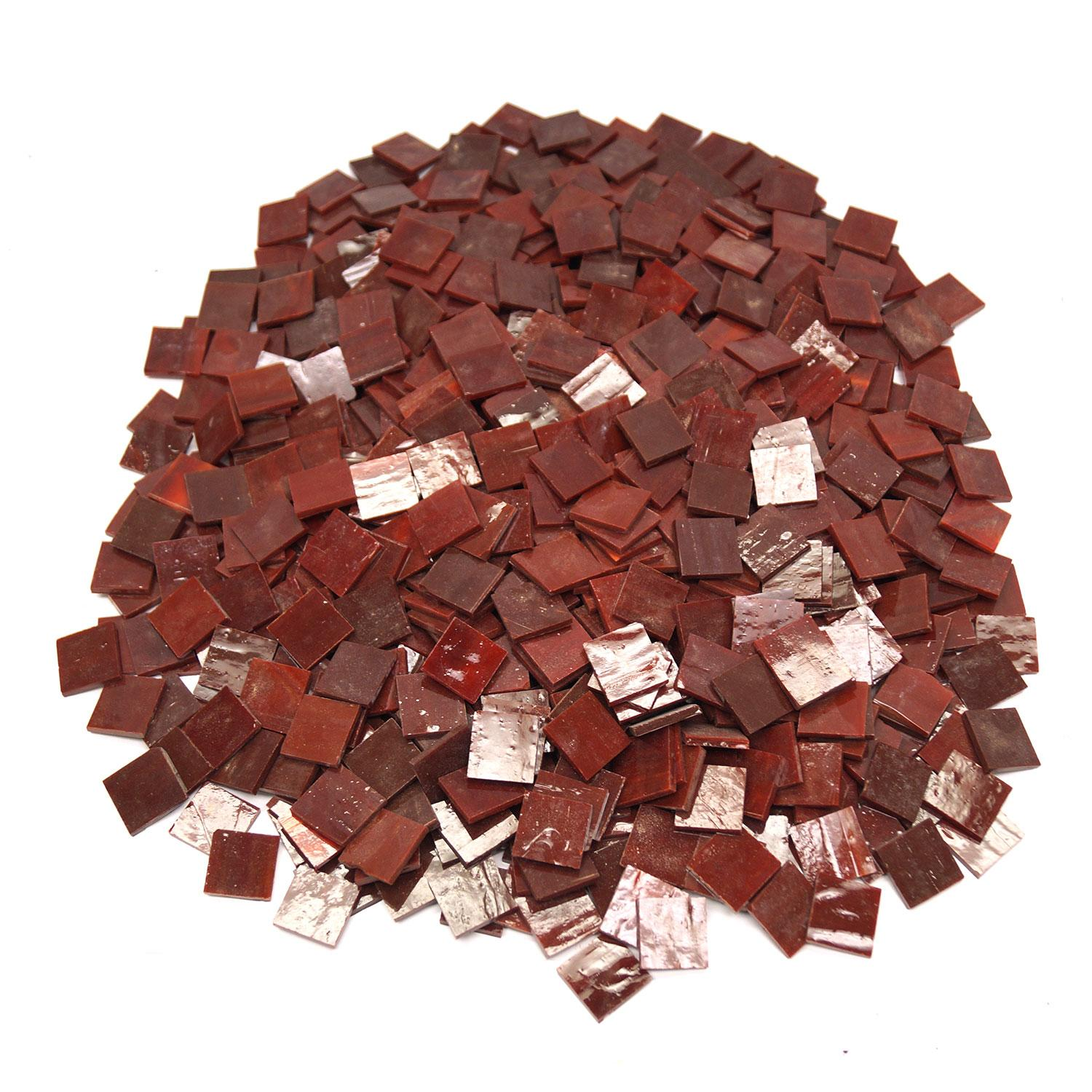 3/4 Red Opaque Stained Glass Chips - 700 Pieces