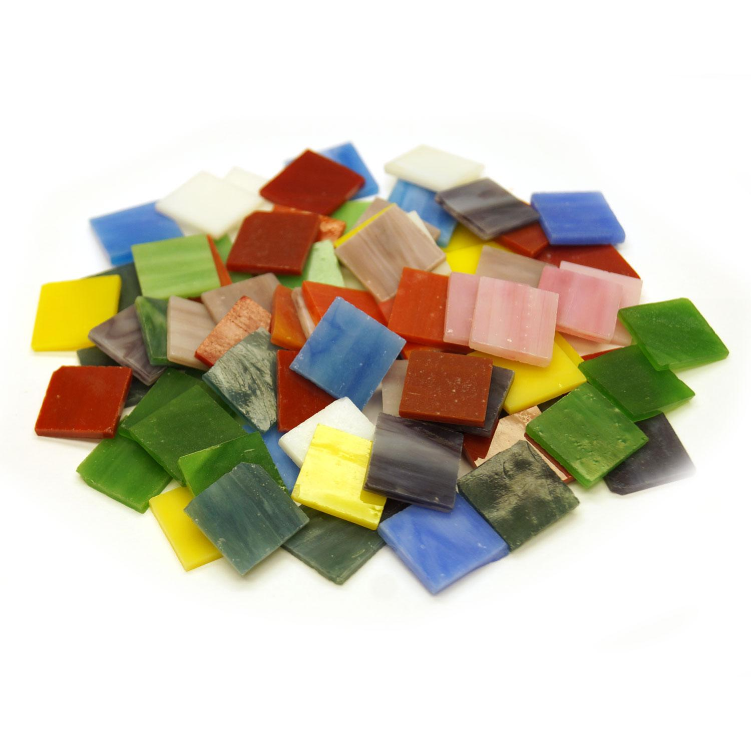 3/4 Streaky Stained Glass Chips Assortment - 80 Pieces