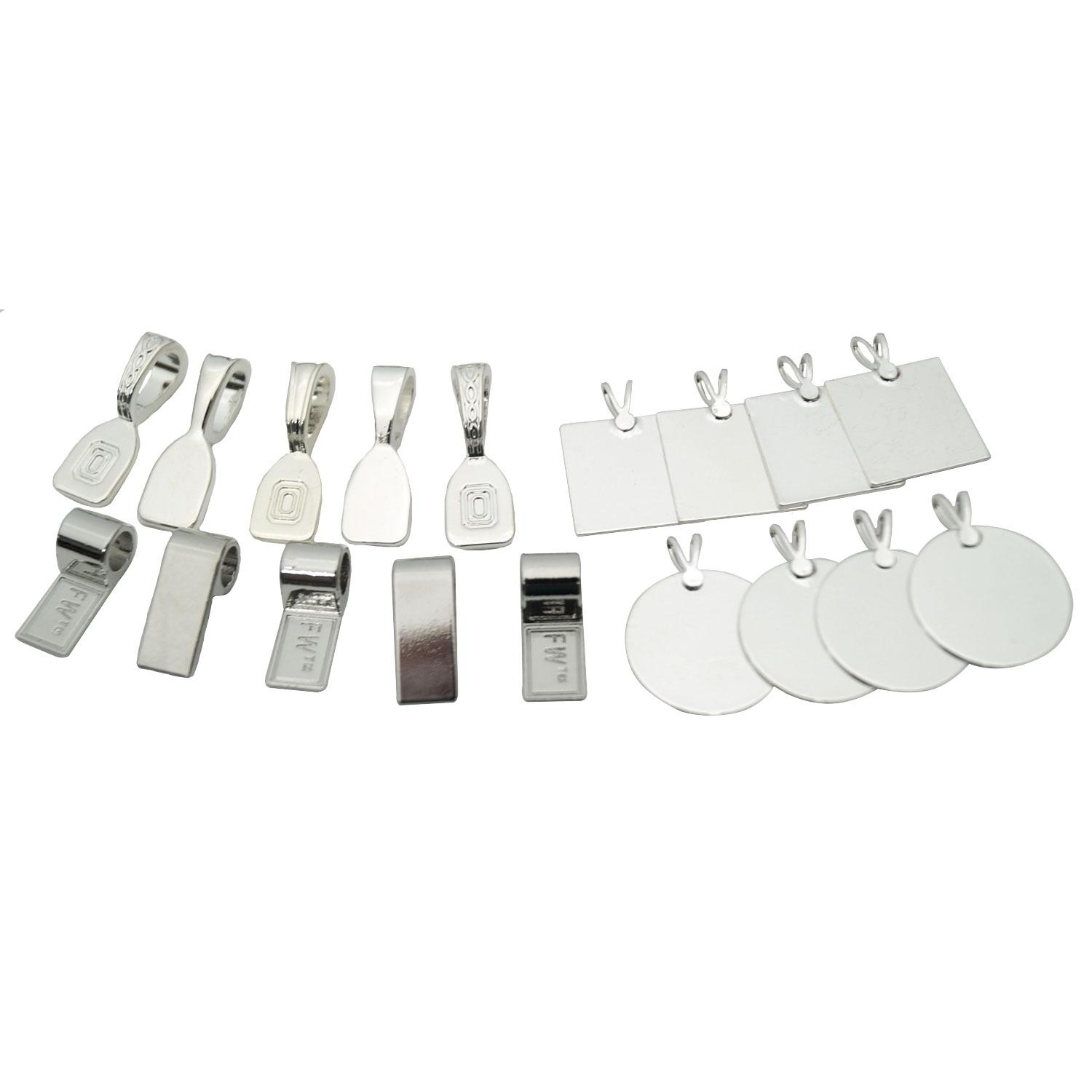 Silver Jewelry Findings - 18 Piece Assortment