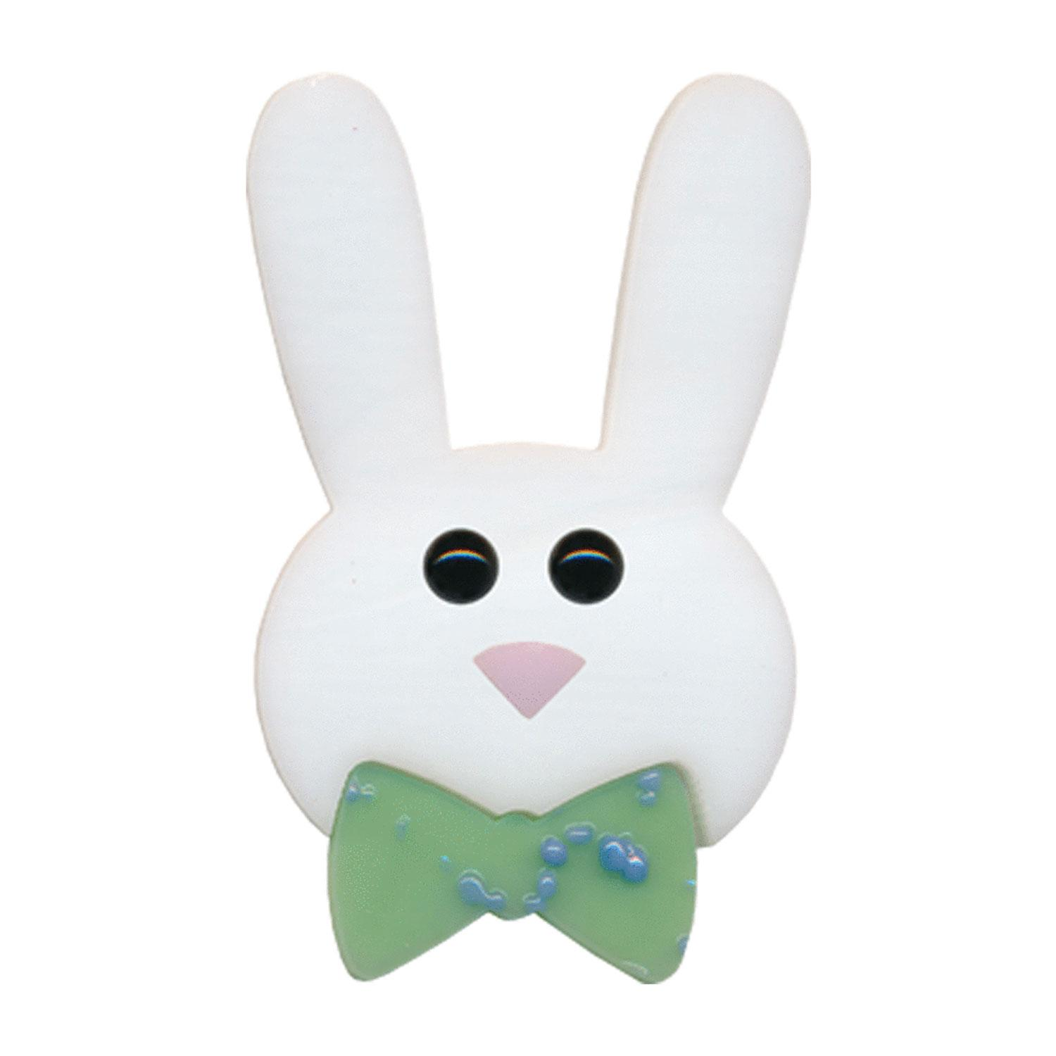 Bunny Face with Bow Fusible Pre-Cut - 90 COE