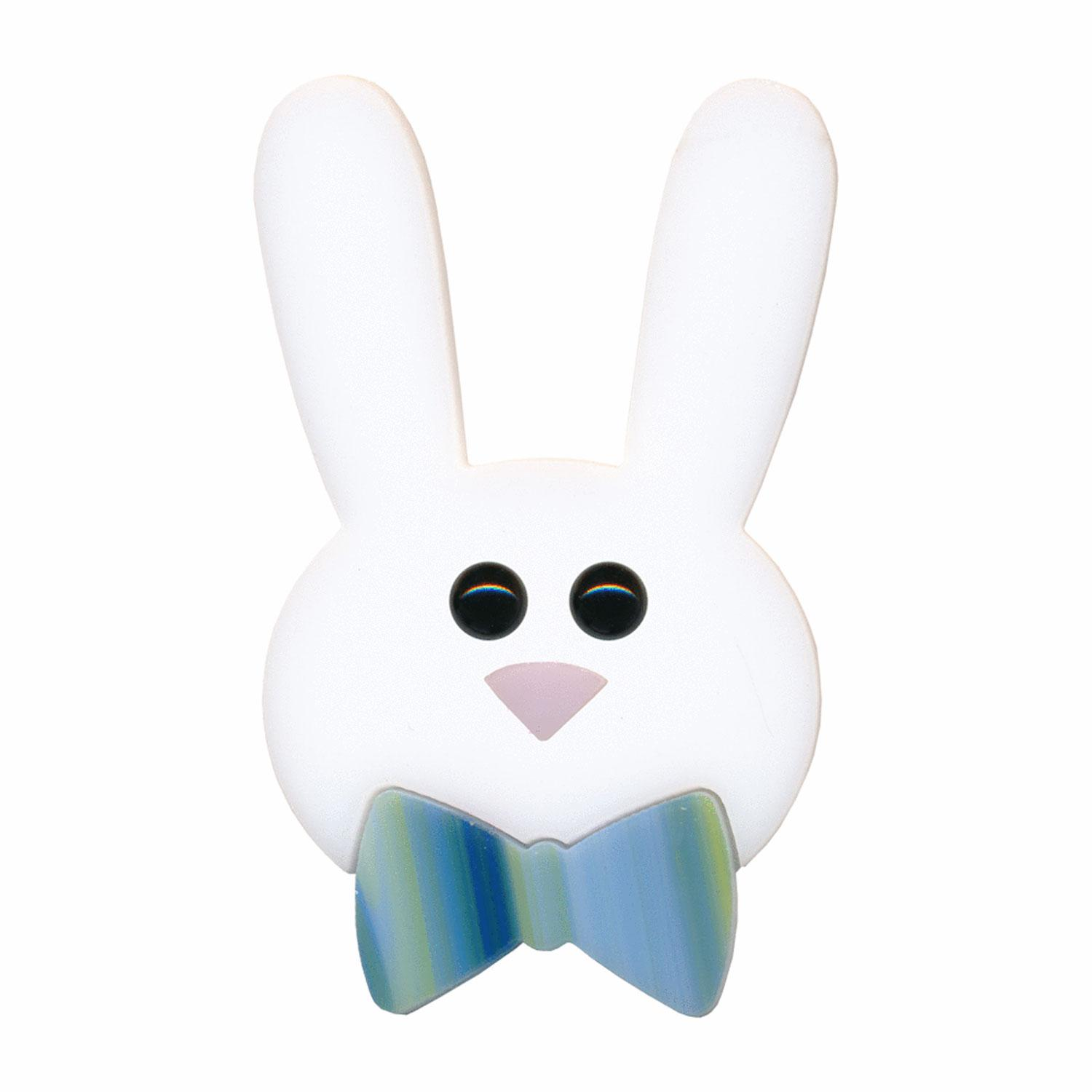 Bunny Face with Bow Fusible Pre-Cut - 96 COE