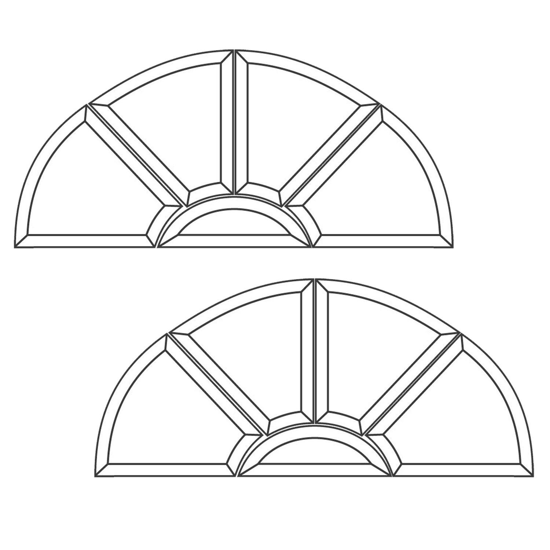 Osceola Bevel Cluster - Set of 2