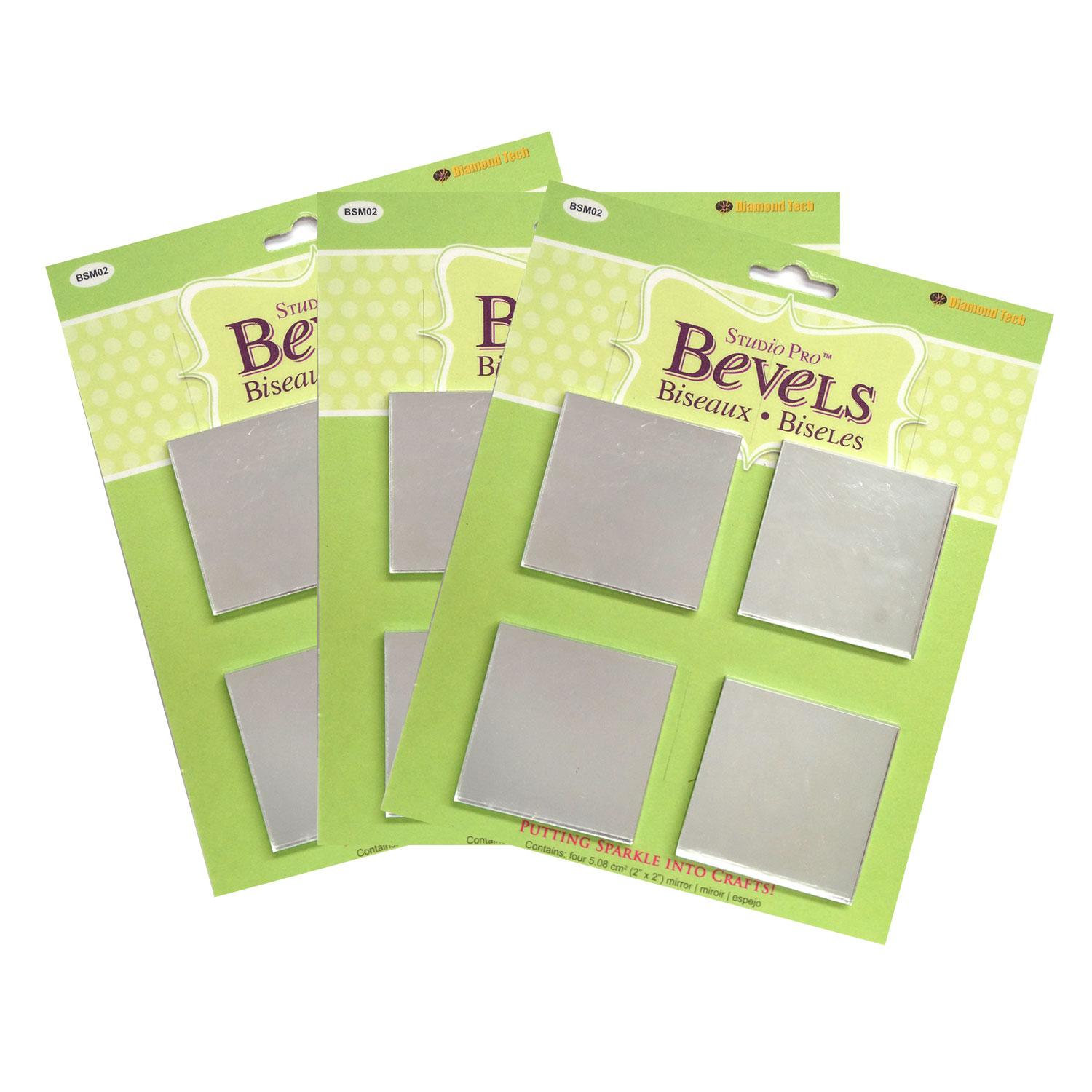 2 Square Mirror - 12 Pack