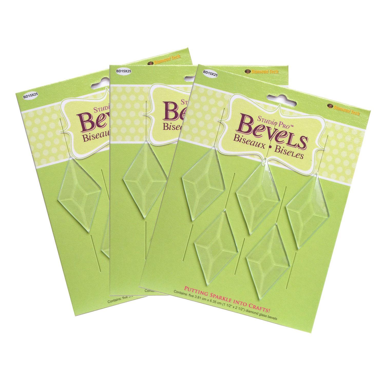 1-1/2 x 2-1/2 Diamond Bevel - 15 Pack