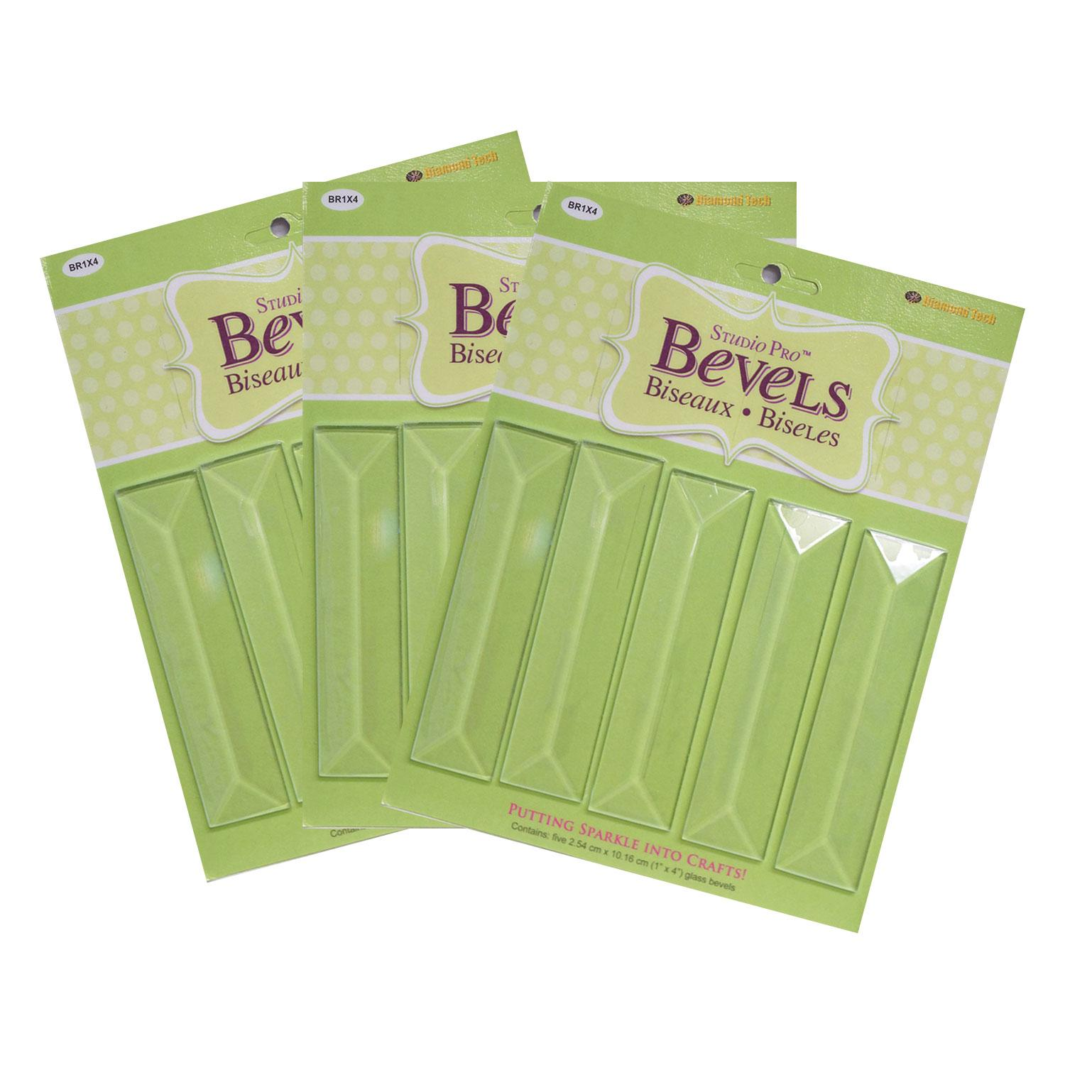1 x 4 Rectangle Bevel - 15 Pack