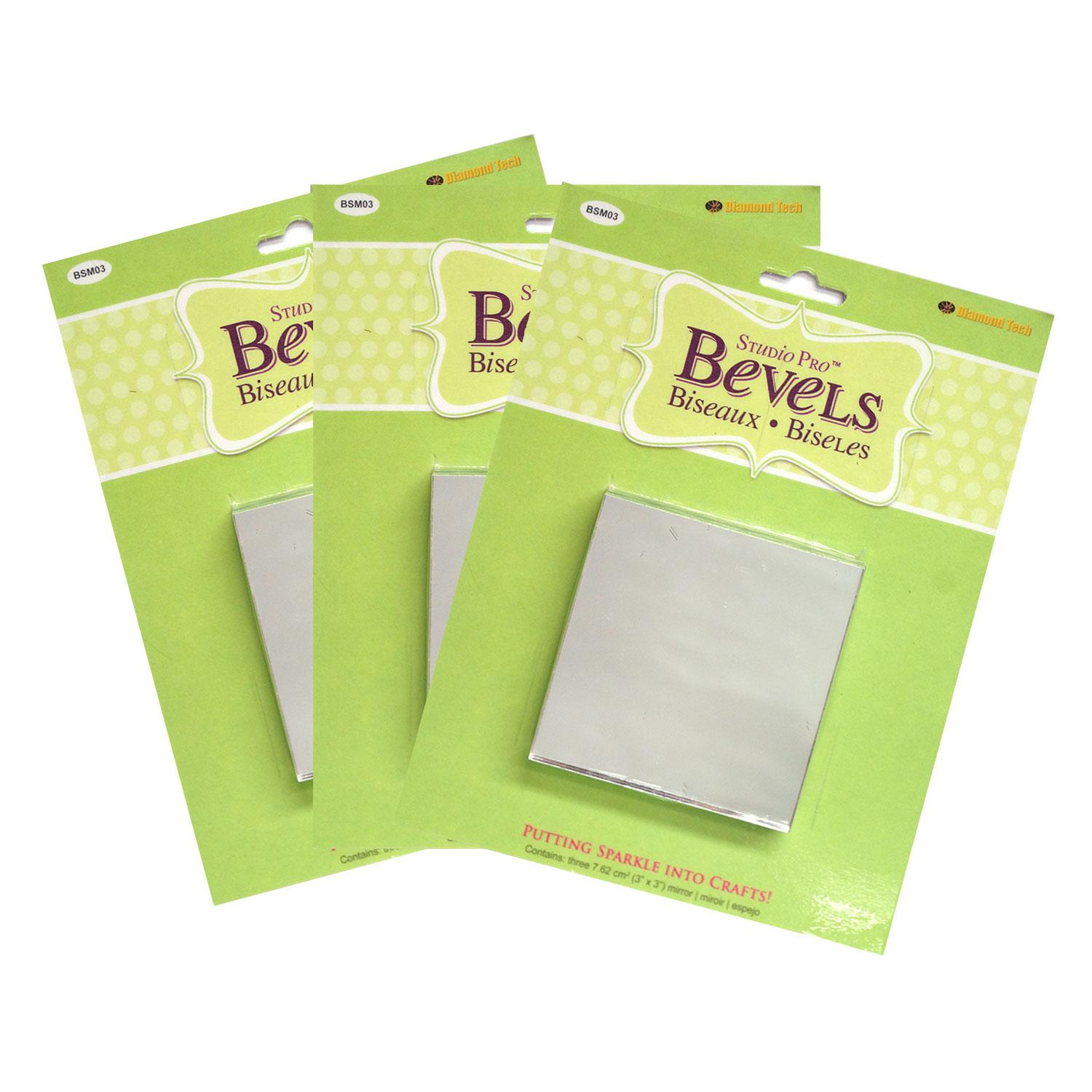 3 Square Mirror - 9 Pack