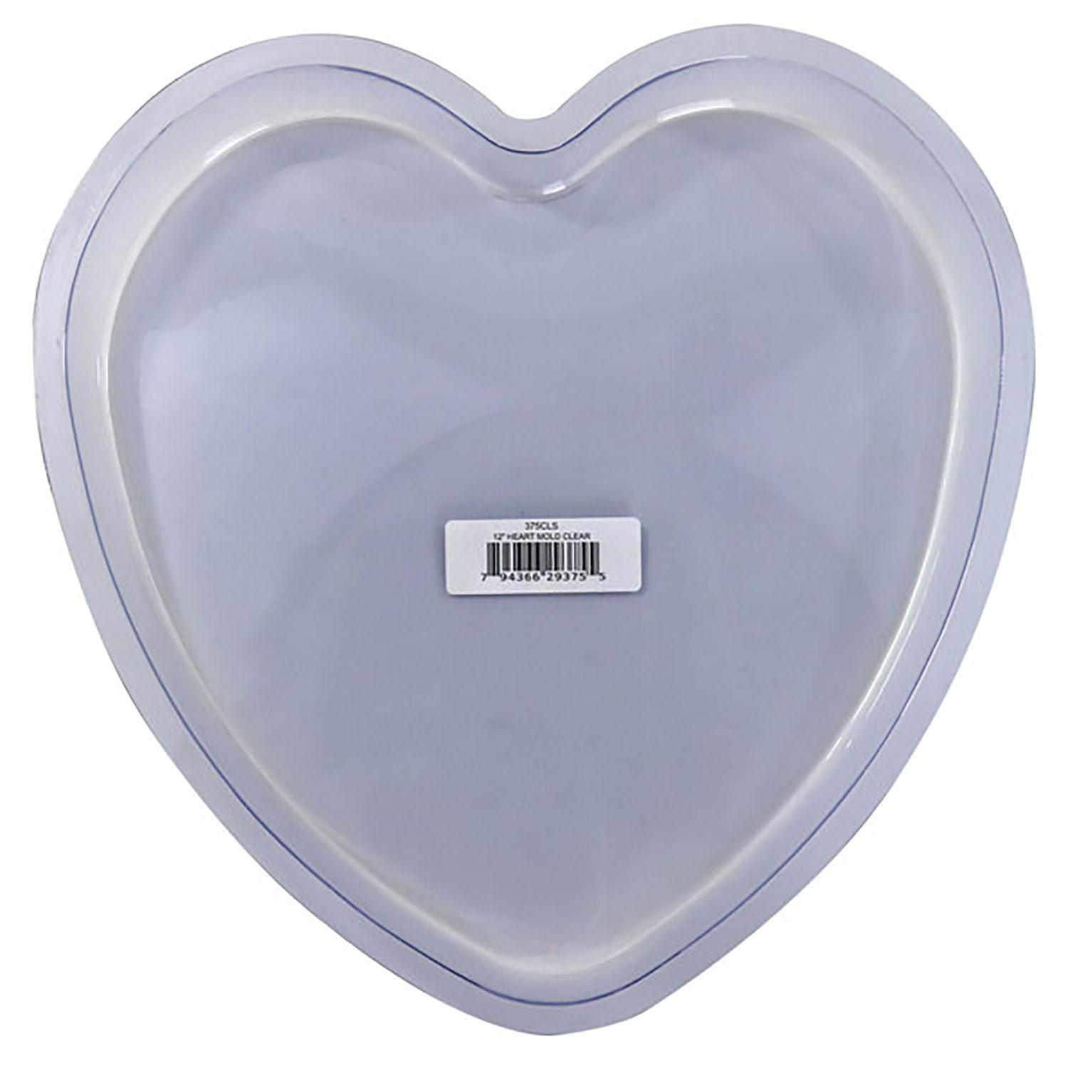 12 Heart Stepping Stone Mold