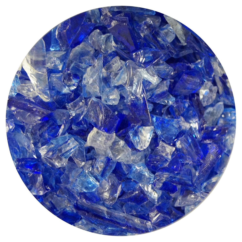 8.5 oz Cobalt Blue / Clear Dual Tone Coarse Frit - 96 COE