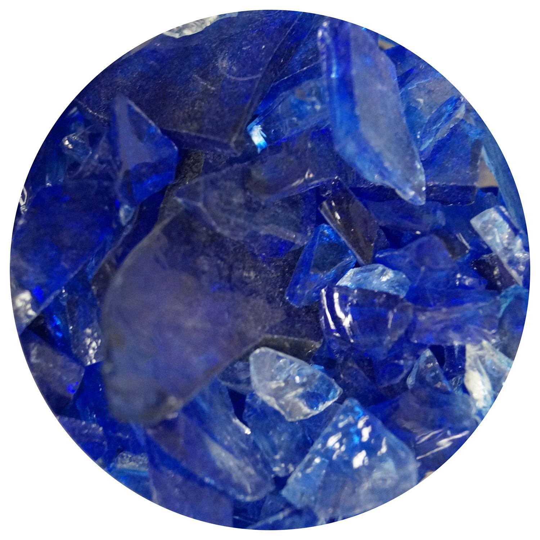 8.5 oz Cobalt Blue / Clear Dual Tone Mosaic Frit - 96 COE