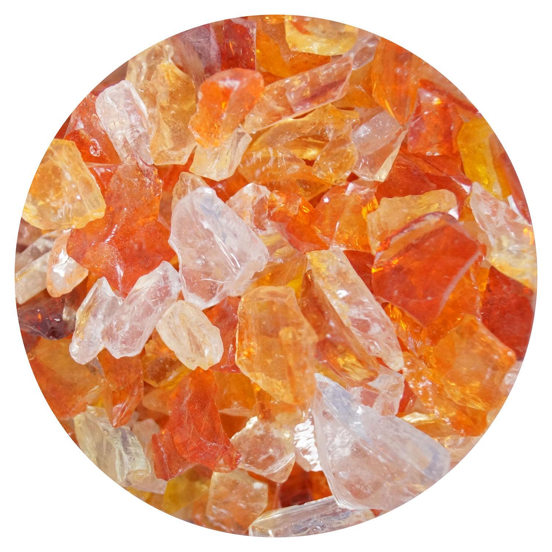 8.5 oz Grenadine Red / Clear Dual Tone Mosaic Frit - 96 COE