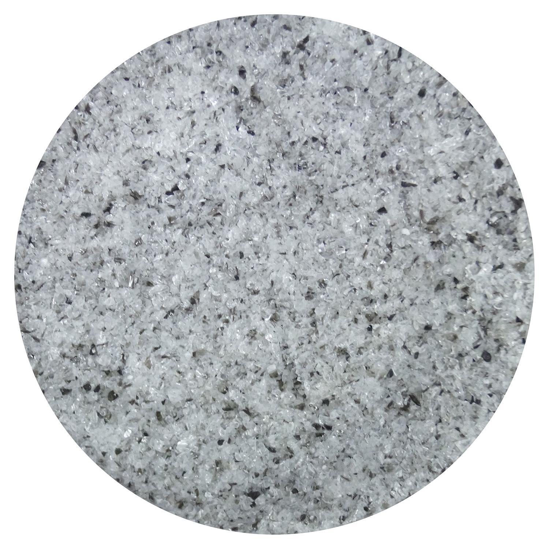 8.5 oz Black / Clear Dual Tone Fine Frit - 96 COE
