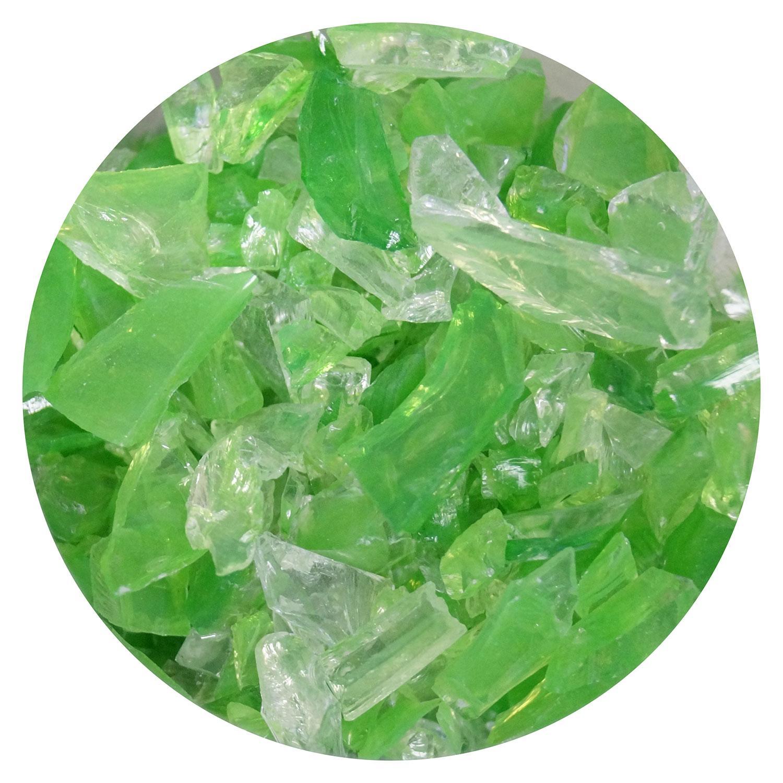 8.5 oz Fern Green / Clear Dual Tone Coarse Frit - 96 COE