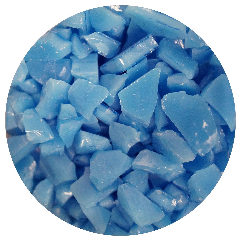 8.5 oz Riviera Blue Opal Mosaic Frit - 96 COE