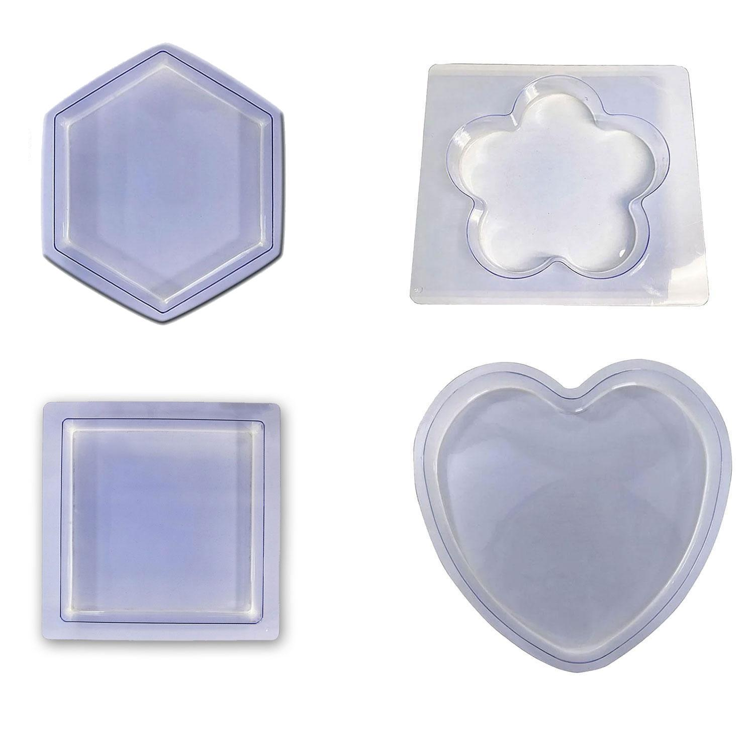 Clear Stepping Stones Mold Assortment - 4 Pack