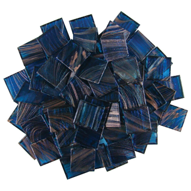 3/4 Dark Blue Metallic Venetian Tiles - 1 Lb
