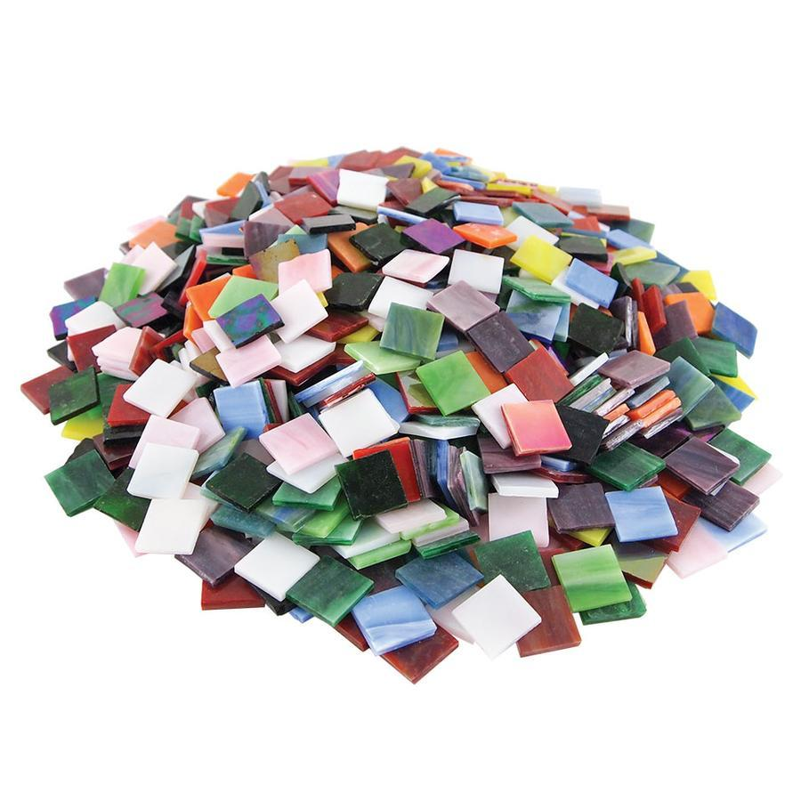 3/4 Streaky Stained Glass Chips Assortment - 640 Pieces