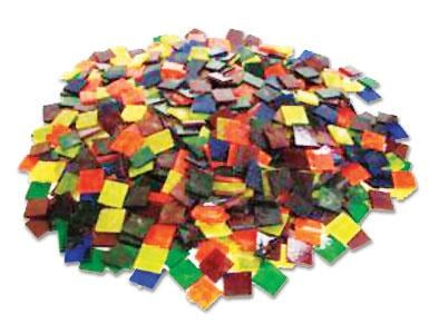 3/4 Transparent Stained Glass Chips Assortment - 640 Pieces