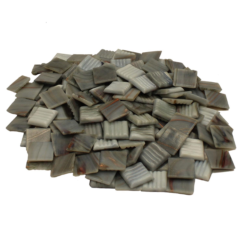 3/4 Glacier Metallic Venetian Tiles - 1 Lb