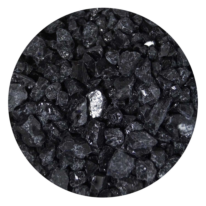 16 Oz Black Opal Coarse Frit - 90 COE