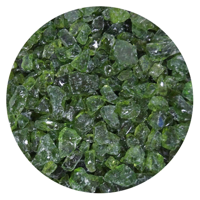 16 Oz Fern Green Transparent Coarse Frit - 90 COE