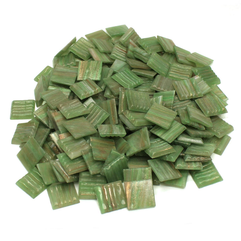 3/4 Shamrock Metallic Venetian Tiles - 1 Lb