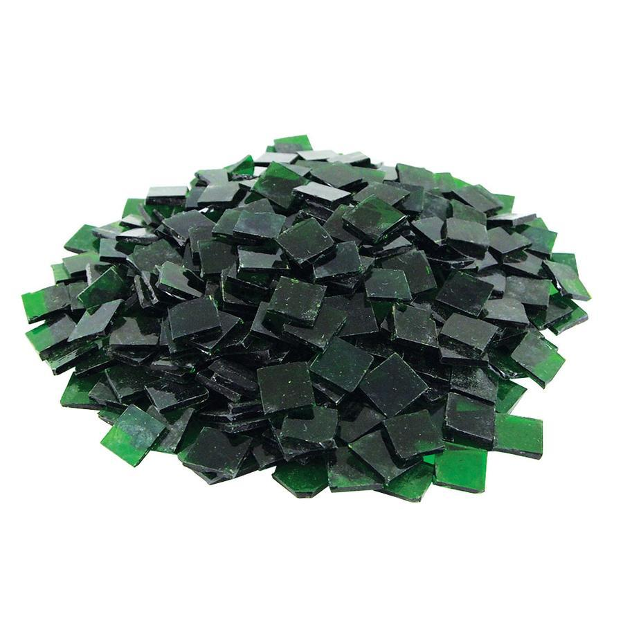 3/4 Dark Green Transparent Stained Glass Chips - 480 Pieces
