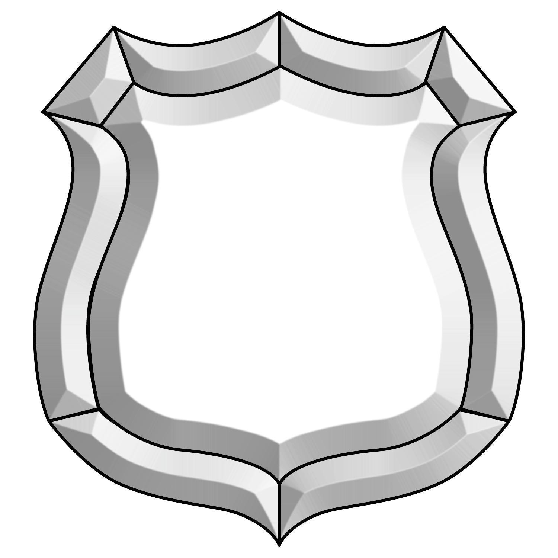 Police Badge Bevel Cluster