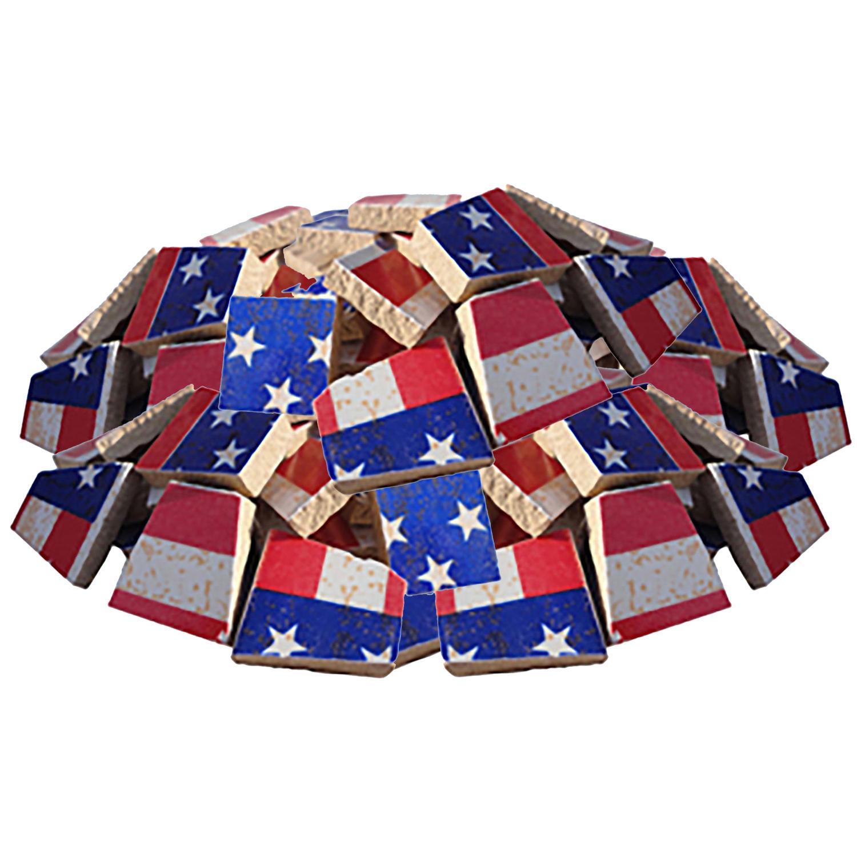 Bulk American Flag Ceramic Tile - 4 Lb