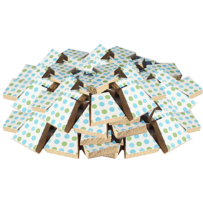 Bulk Blue/Green Dots Ceramic Tile - 4 Lb
