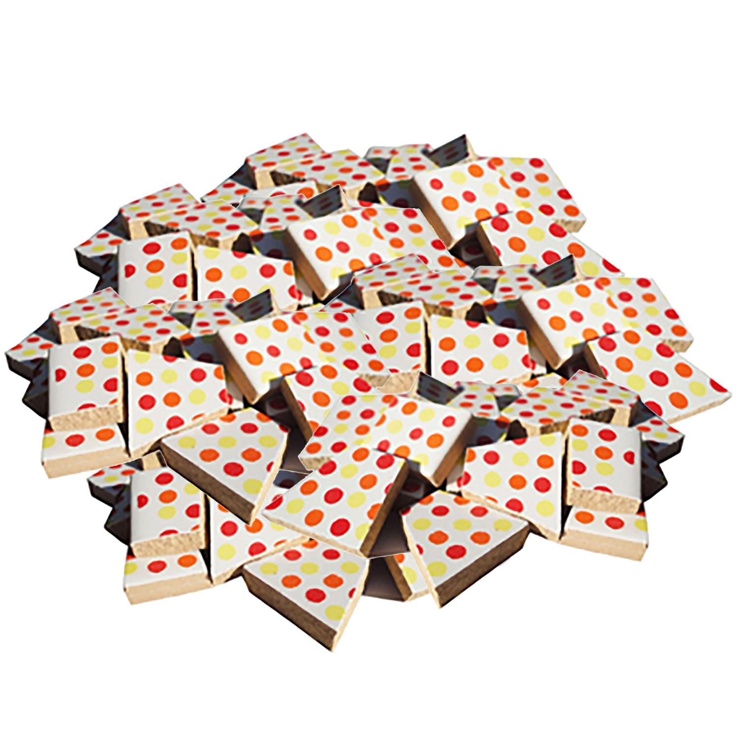 Bulk Red/Yellow Dots Ceramic Tile - 4 Lb