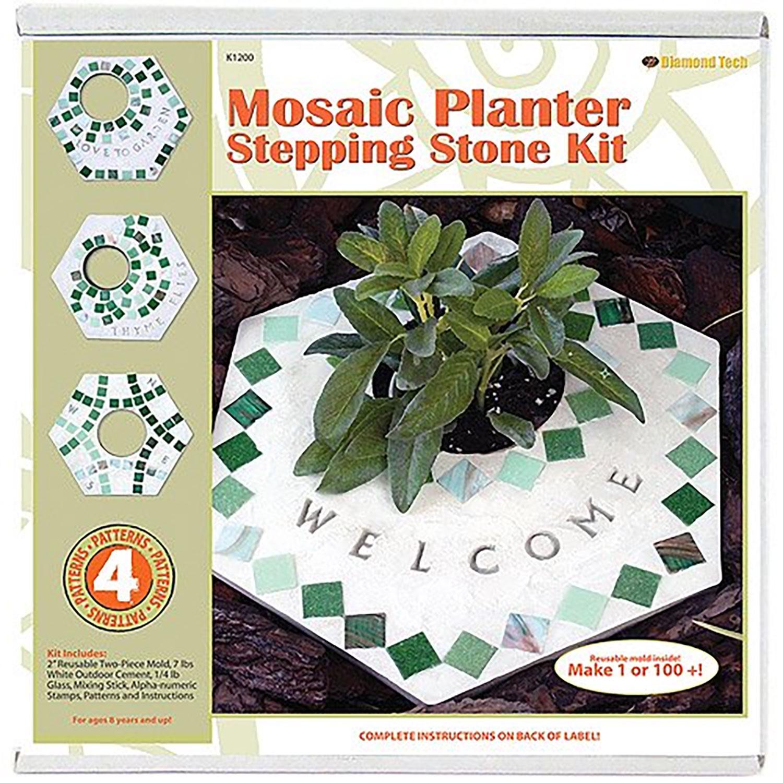 Mosaic Planter Stepping Stone Kit
